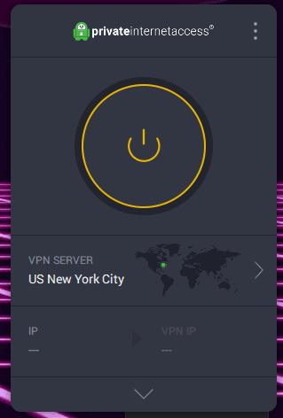 screenshot of the pia desktop client