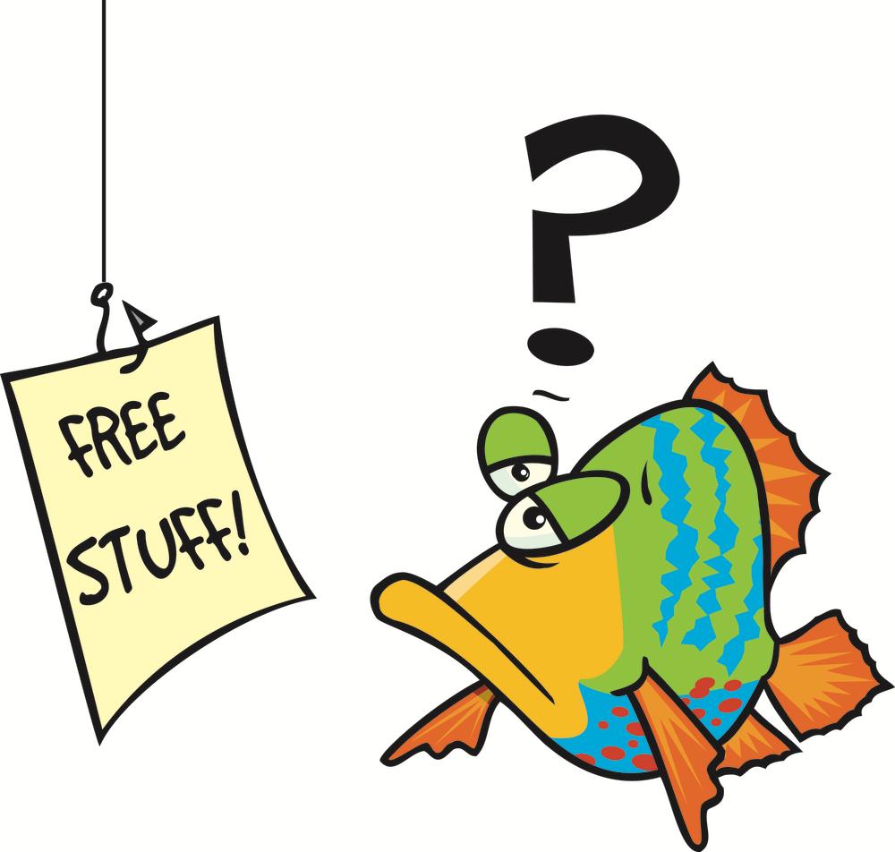 fish baited with free stuff