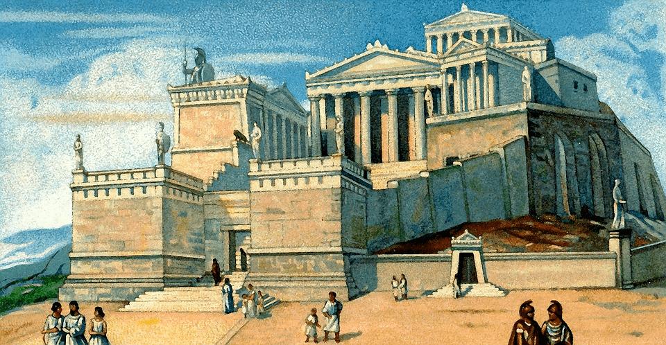 athens acropolis artist rendition