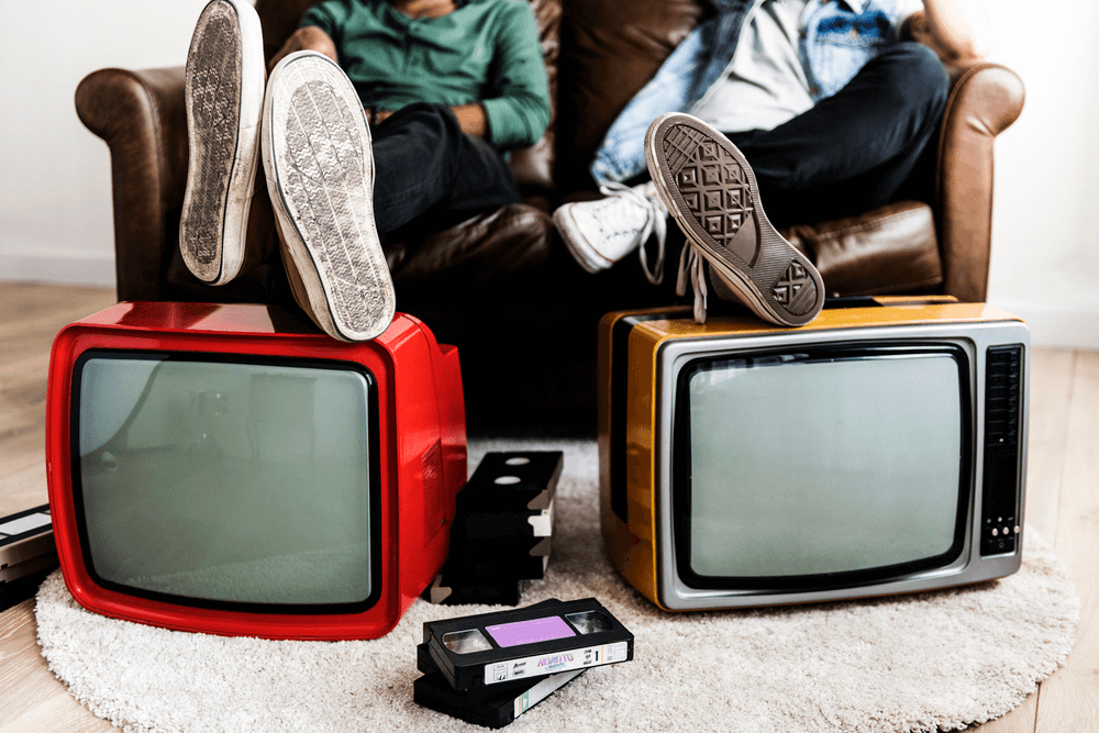 vhs tapes and tvs