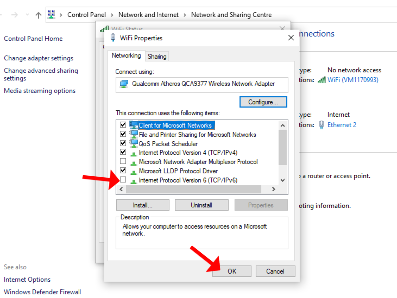 trouble shooting nordvpn netflix ipv6 windows disable