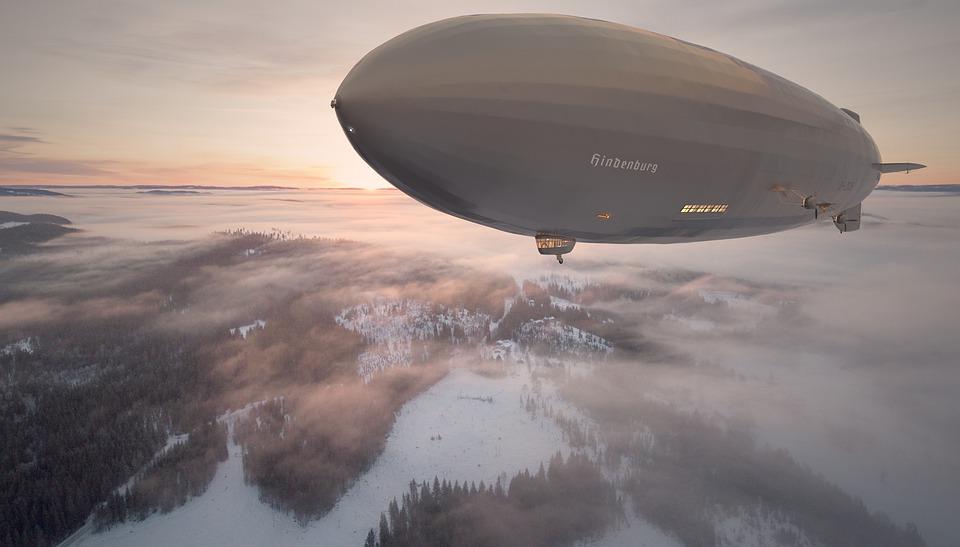 Airship in flight