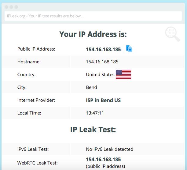 Surfshark VPN leak test