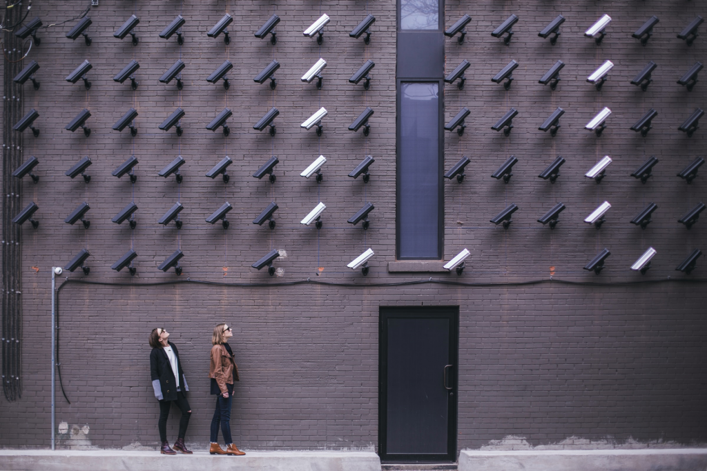 surveillance cameras on wall change ip address