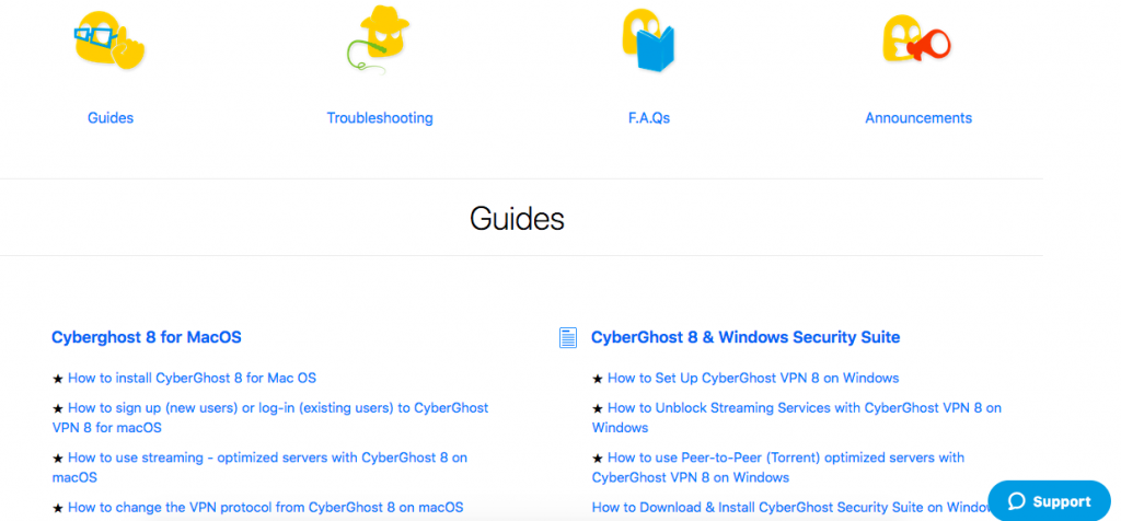 cyberghost knowledgebase