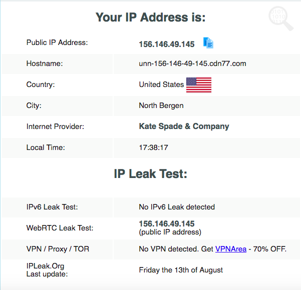 cyberghost leak test