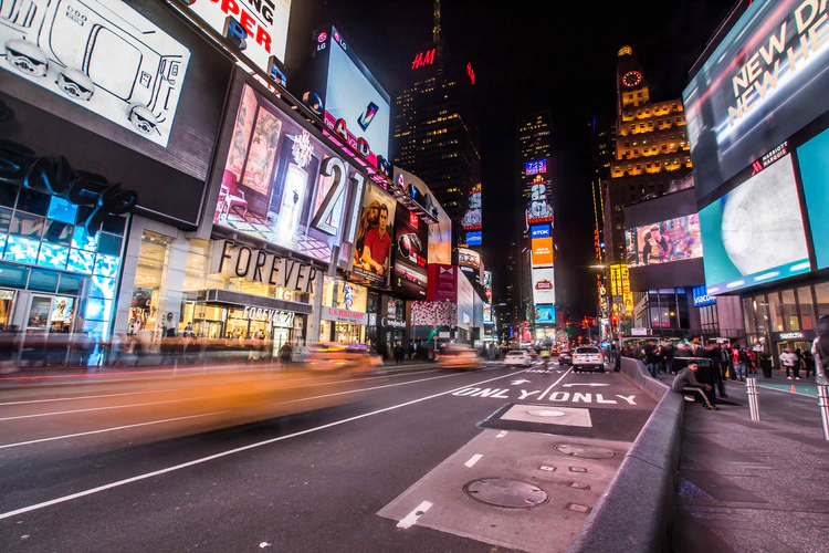 times square nyc time lapse