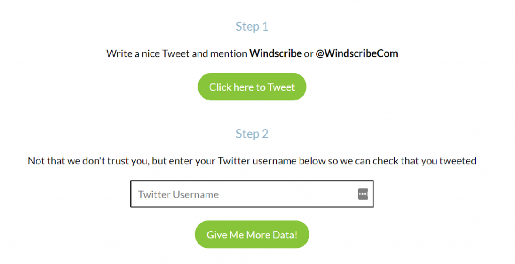 windscribe more data