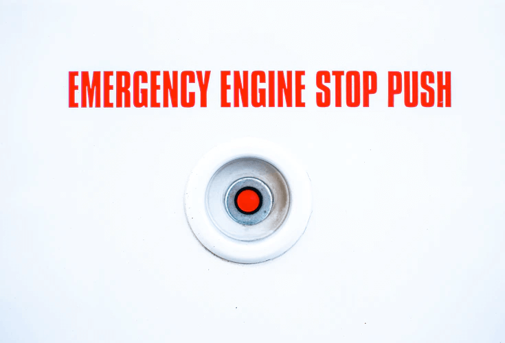 emergency red button