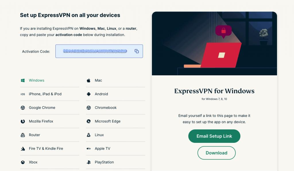 expressvpn windows setup page