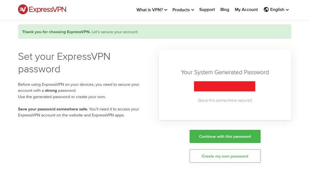 expressvpn password